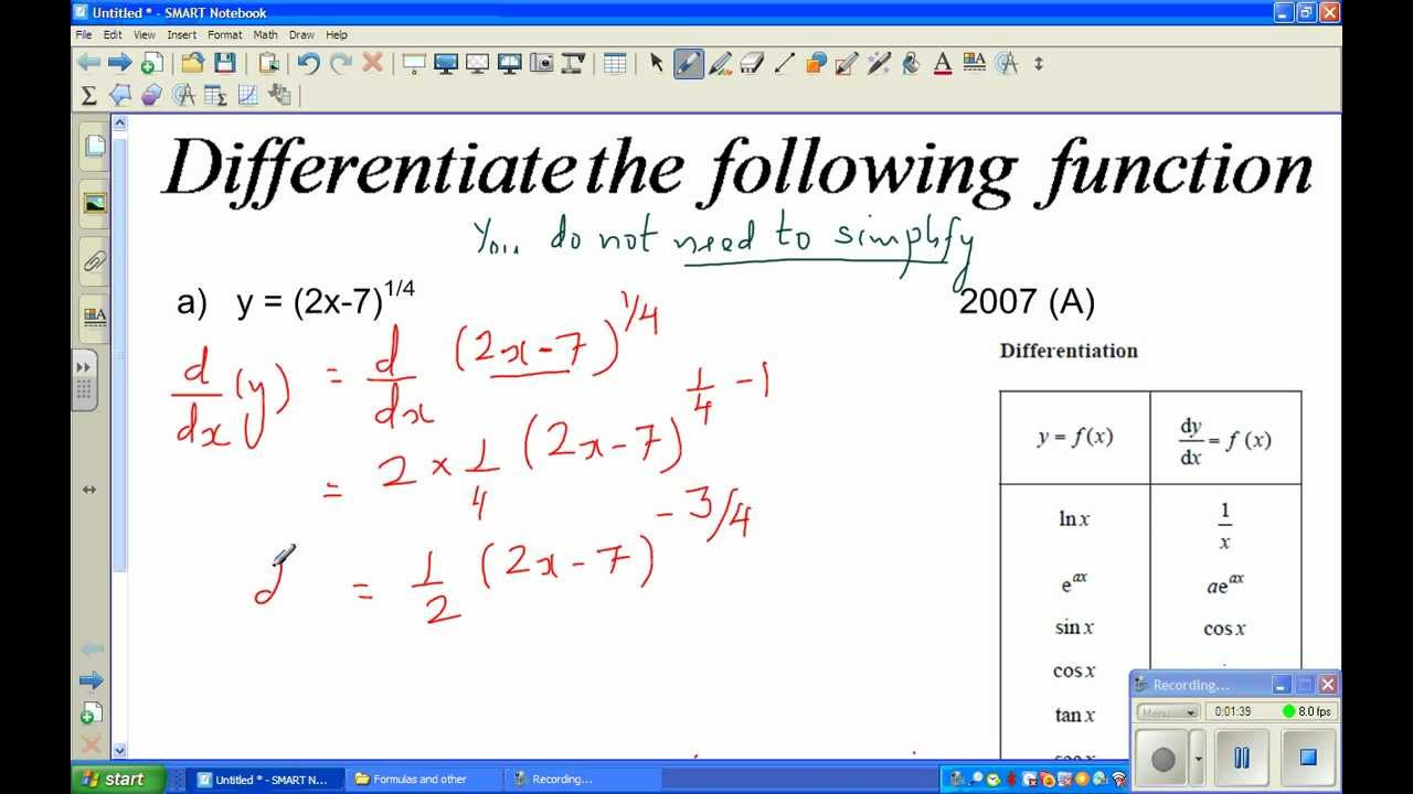 differentiation from first principles examples pdf