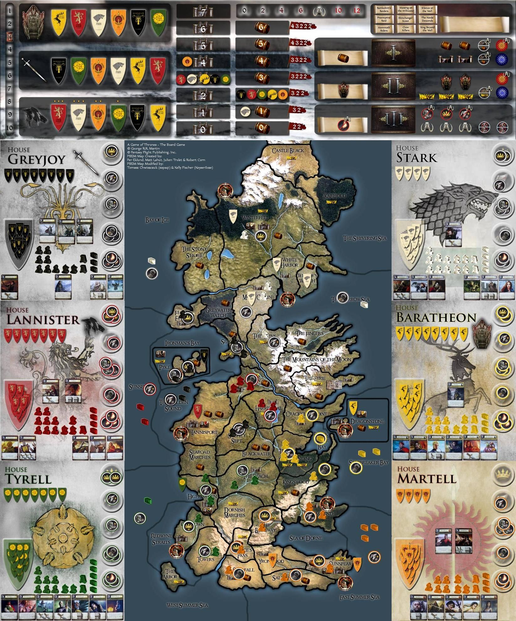game of thrones board game pdf