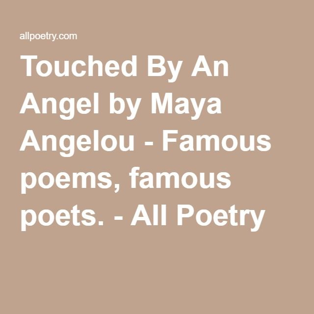 touched by an angel maya angelou pdf