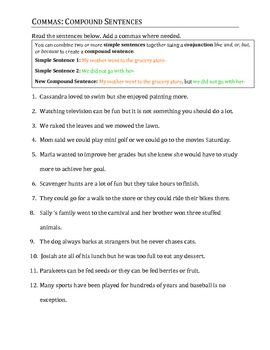 commas in a series practice pdf