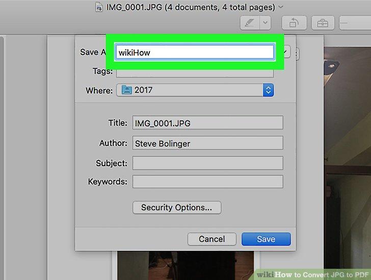 convert jpg to one pdf