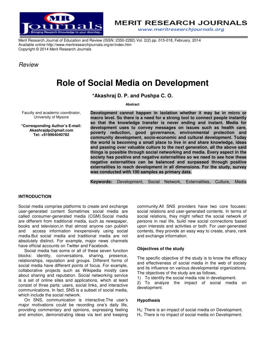 use of social media pdf