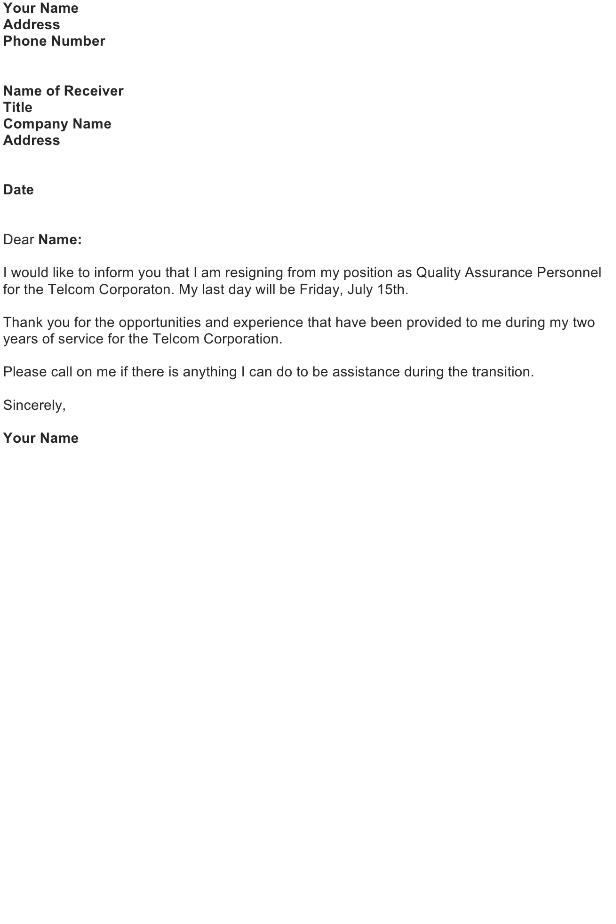 resignation letter for engineer pdf