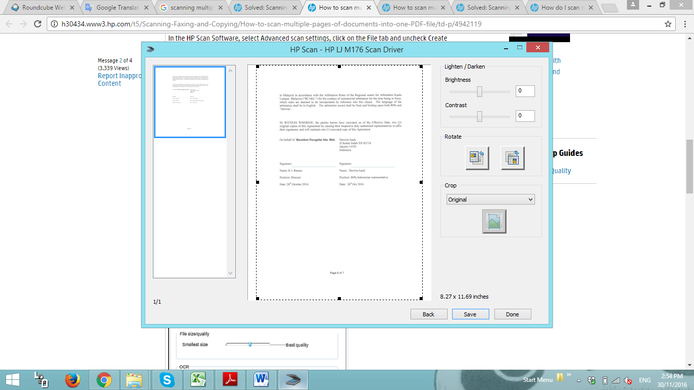 how to scan multiple pages into one pdf hp deskjet