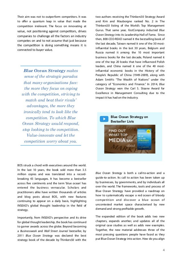 blue ocean strategy article pdf
