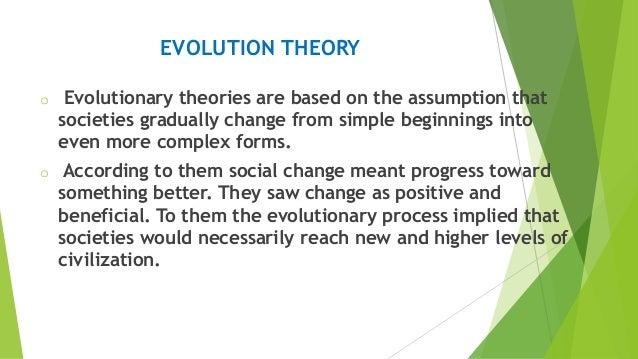 evolutionary theory of social change pdf
