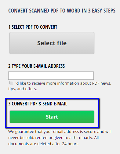 convert pdf to word free no file size limit
