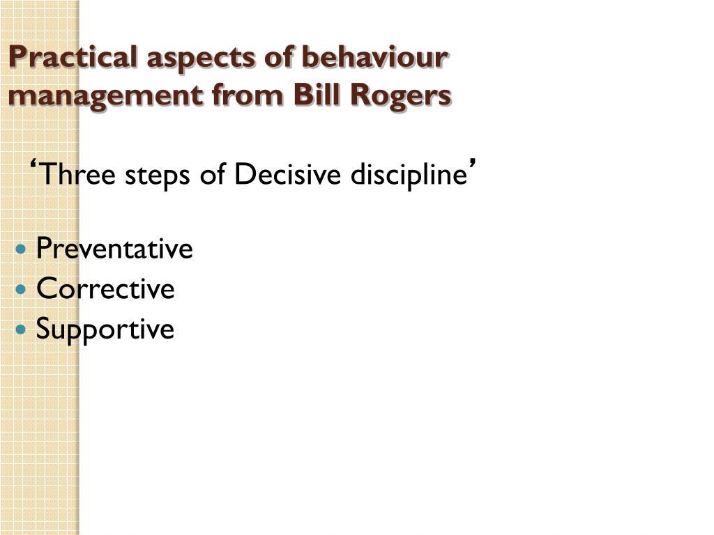 bill rogers behaviour management pdf