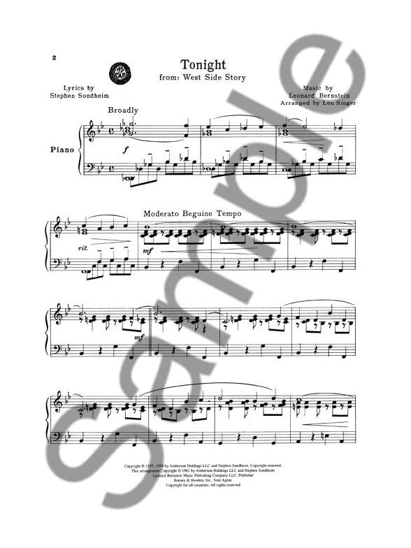 tonight west side story sheet music pdf