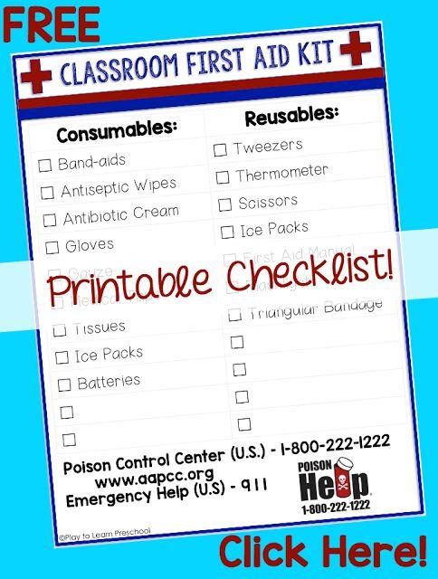 first aid kit checklist pdf
